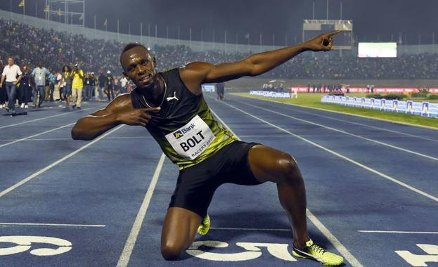 Bolt, durante un evento. /Jewel SAMAD (Afp)