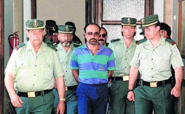 Pedro Luis Gallego, durante el juicio por el crimen de Leticia Lebrato (1994)./