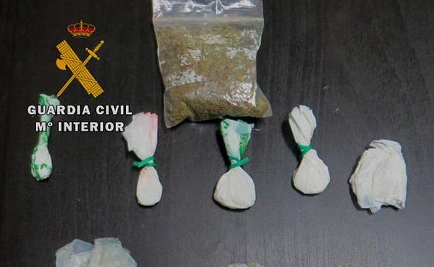 Droga aprehendida/Guardia Civil