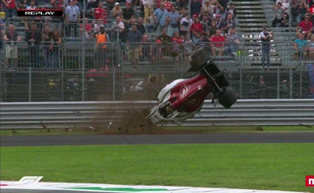 Escalofriante accidente de Ericsson en Monza