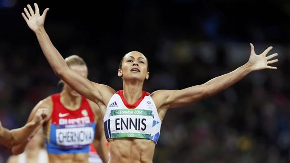 Ennis-Hill, en Londres 2012. /