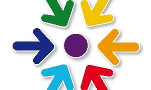 c0a2700799 Colores que surgen del escudo y un punto morado de convergencia | El ...