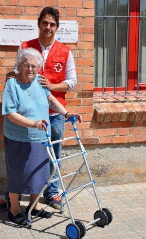 silla de ruedas cruz roja
